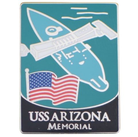 USS Arizona Memorial Pin - US Navy Battleship, Pearl Harbor, Hawaii, HI - Official Traveler Series