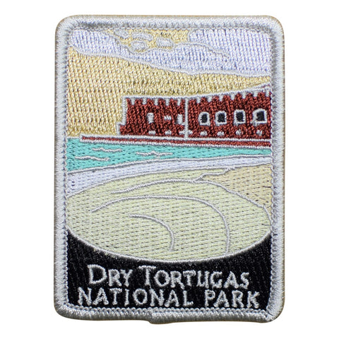 "Dry Tortugas National Park Patch - Fort Jefferson, Florida Badge 3"" (Iron on)"