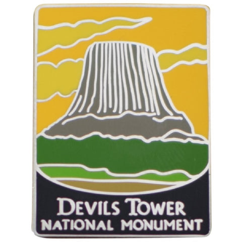 Devils Tower National Monument Pin - Wyoming, Bear Lodge Mountains, Black Hills, WY - Official Traveler Series