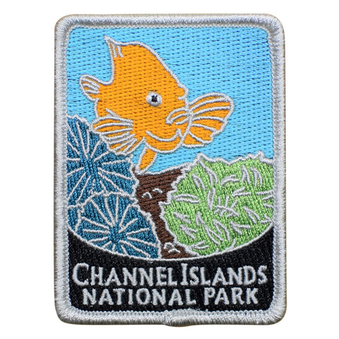 "Channel Islands National Park Patch - Fish, California Badge 3"" (Iron on)"