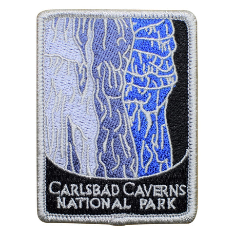 "Carlsbad Caverns National Park Patch - New Mexico Badge 3"" (Iron on)"