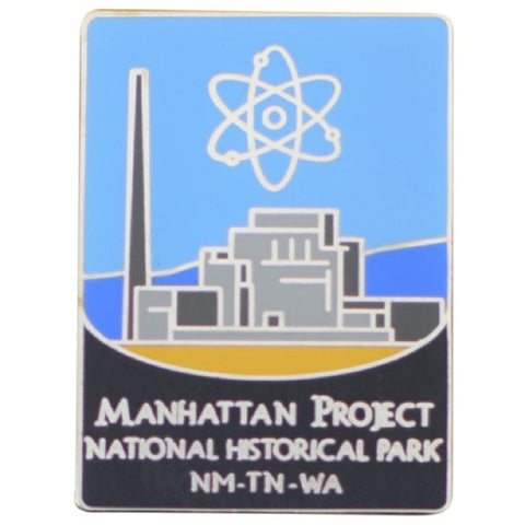 Manhattan Project Pin - National Historic Park, New Mexico, Tennessee, Washington - Official Traveler Series