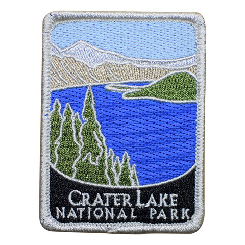 "Crater Lake National Park Patch - Oregon, OR Badge 3"" (Iron on)"