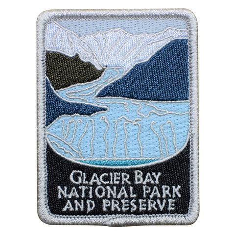 "Glacier Bay National Park Patch - Alaska, Juneau, Nat'l Preserve 3"" (Iron on)"