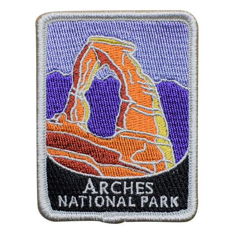 "Arches National Park Patch - Delicate Arch, Utah, Official Traveler Series 3"" (Iron on)"
