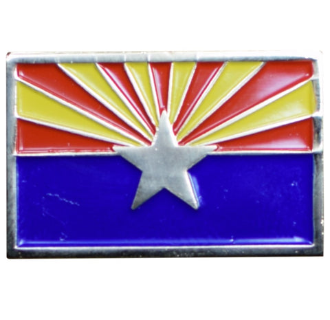 Arizona Pin - AZ Flag, Made of Metal, Rubber Backing
