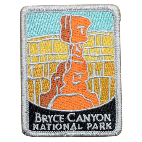 "Bryce Canyon National Park Patch - Utah, Hoodoo, Official Traveler Series 3"" (Iron on)"