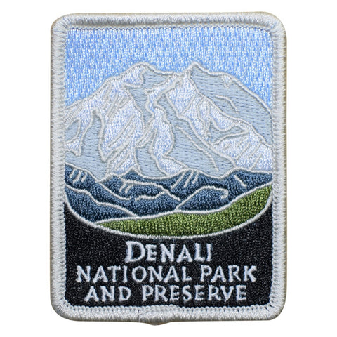 "Denali National Park Patch - Alaska, AK Preserve Badge 3"" (Iron on)"