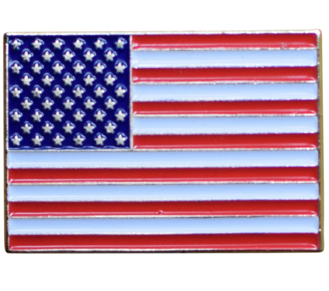 American Flag Pin - USA Red, White, and Blue, Made of Metal, Rubber Backing