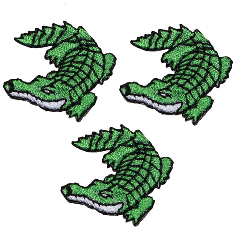 Alligator Applique Patch (3-Pack, Small, Iron on)