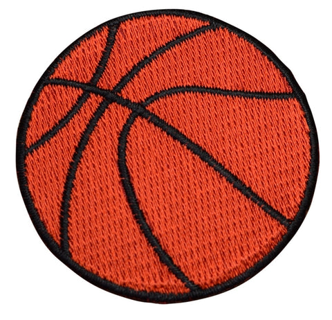 "Basketball Applique Patch - Sports Badge 2.25"" (Iron on)"