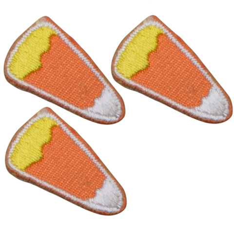 "Mini Candy Corn Applique Patch - Halloween Treat .75"" (3 Pack, Iron on)"