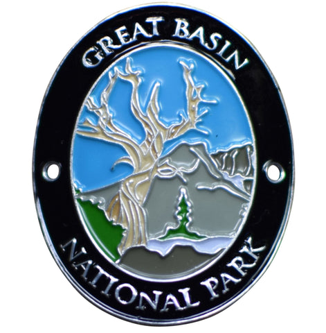 Great Basin National Park Walking Hiking Stick Medallion - Bristlecone Pine, Pinus Longaeva, Nevada