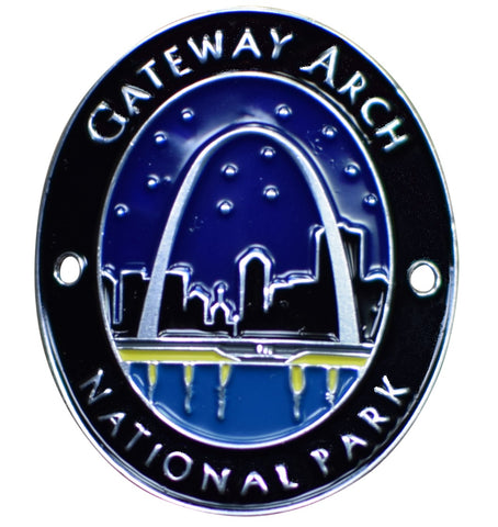 Gateway Arch National Park Walking Hiking Stick Medallion - Official Traveler Series - St. Louis, MO