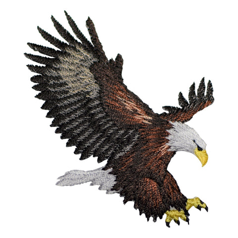 Bald Eagle Patch Applique (Medium, Iron On)