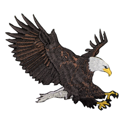 Bald Eagle Patch Applique (Large, Iron On)