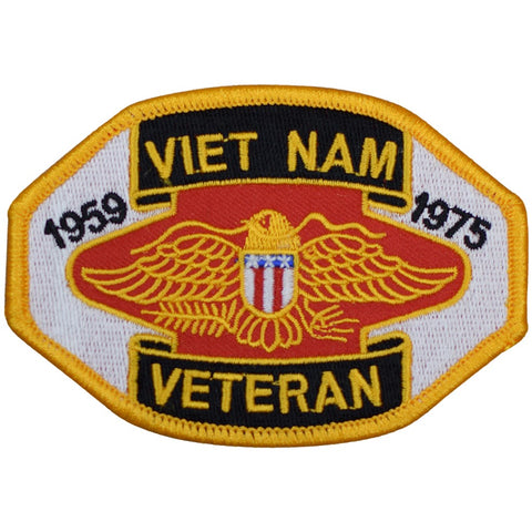 "Vietnam Veteran Patch - US Military Service Member Badge 3.75"" (Iron on)"