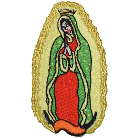 "Our Lady of Guadalupe Applique Patch - Virgin Mary Badge 3"" (Iron on)"