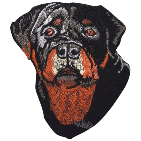 "Rottweiler Applique Patch - Rottie Dog, Canine, Animal, Pet Badge 2.5"" (Iron on)"