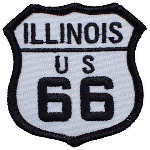 "Illinois Route 66 Patch - Great Lakes, Chicago, Springfield 2.5"" (Iron on)"