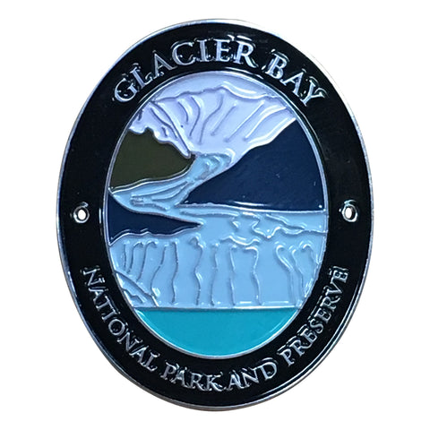 Glacier Bay National Park Walking Hiking Stick Medallion - Official Traveler Series - Alaska