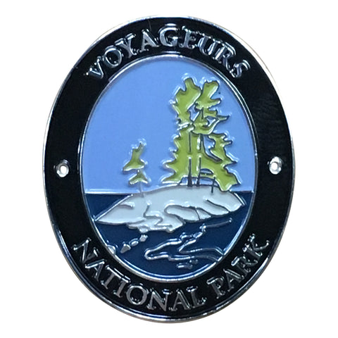 Voyageurs National Park Walking Hiking Stick Medallion - Official Traveler Series - Minnesota