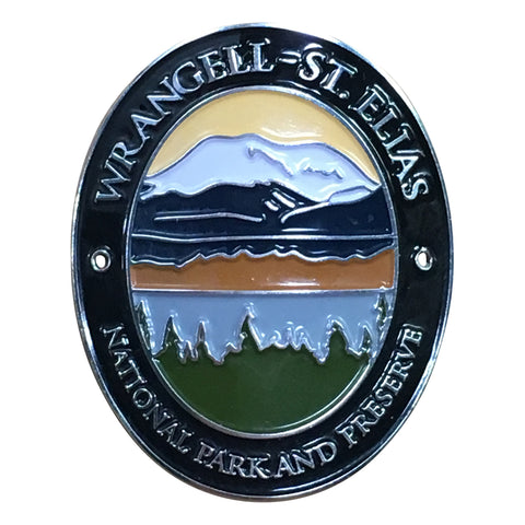 Wrangell – St. Elias National Park Walking Hiking Stick Medallion - Official Traveler Series - Alaska