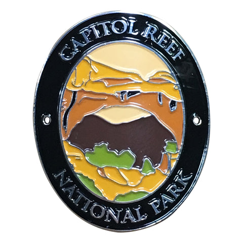 Capitol Reef National Park Walking Hiking Stick Medallion - Official Traveler Series - Utah