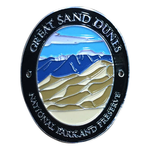 Great Sand Dunes National Park Walking Hiking Stick Medallion - Official Traveler Series - Colorado