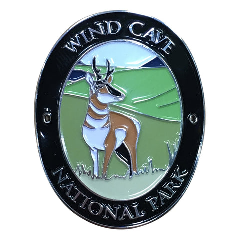 Wind Cave National Park Walking Hiking Stick Medallion - Official Traveler Series - South Dakota, Antelope
