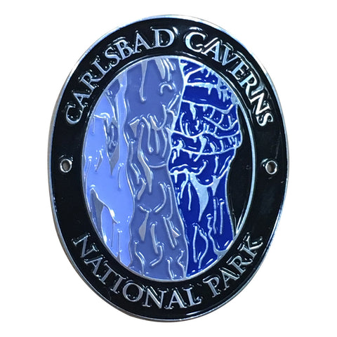Carlsbad Caverns National Park Walking Hiking Stick Medallion - Official Traveler Series - New Mexico