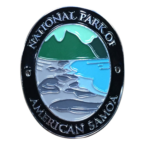 National Park of American Samoa Walking Hiking Stick Medallion - Official Traveler Series - Pacific Islands