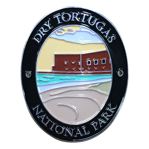 Dry Tortugas National Park Walking Hiking Stick Medallion - Official Traveler Series - Florida