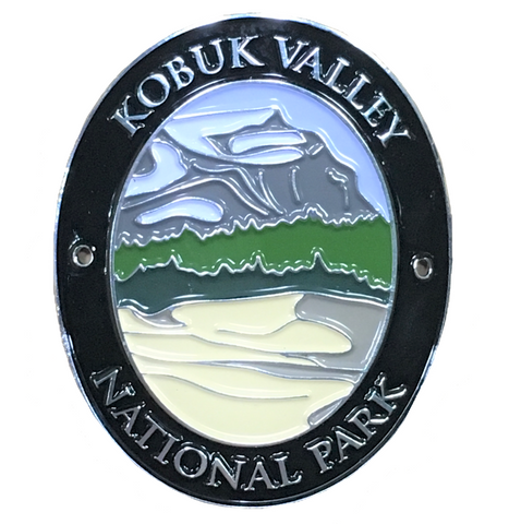 Kobuk Valley National Park Walking Stick Medallion - Alaska - Official Traveler Series