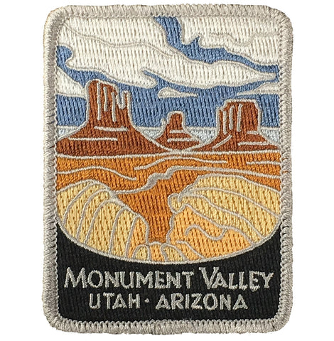 "Monument Valley Patch - Utah, Arizona, Colorado Plateau, Navajo 3"" (Iron on)"