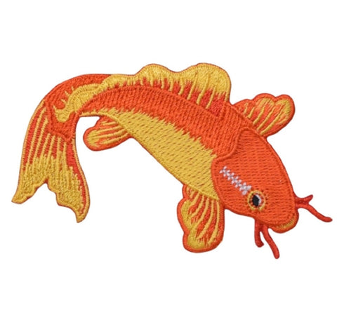 "Koi Fish Applique Patch - Jinli, Nishikigoi, Japanese Fish 3.25"" (Iron on)"