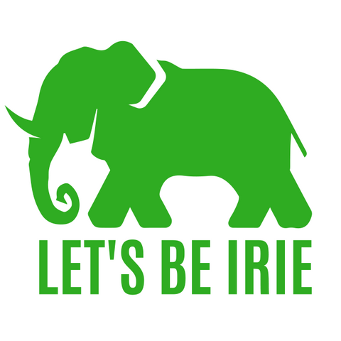 "LET'S BE IRIE Vinyl Sticker - 3"" x 3"""