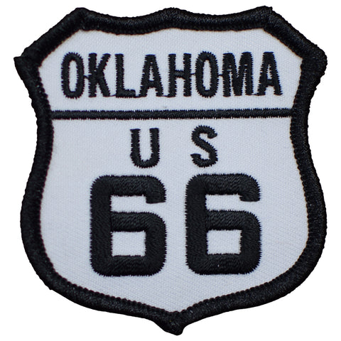 "Oklahoma Patch - Route 66, Will Rogers, Tulsa 2.5"" (Iron on)"