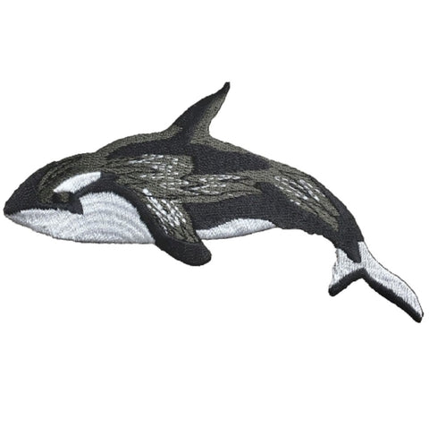 "Orca Applique Patch - Killer Whale Badge 4.75"" (Iron on)"