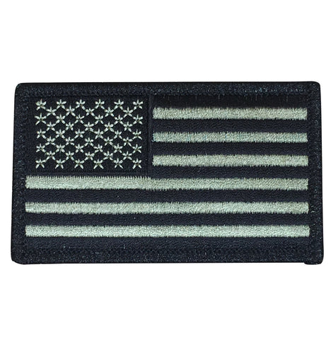 OD Olive Drab American Flag Patch - United States of America USA (Iron On)