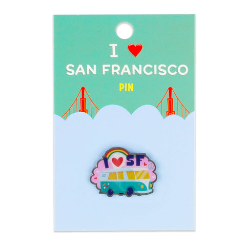 San Francisco Pin - Haight Ashbury, Hippie Van, California (Clearance)