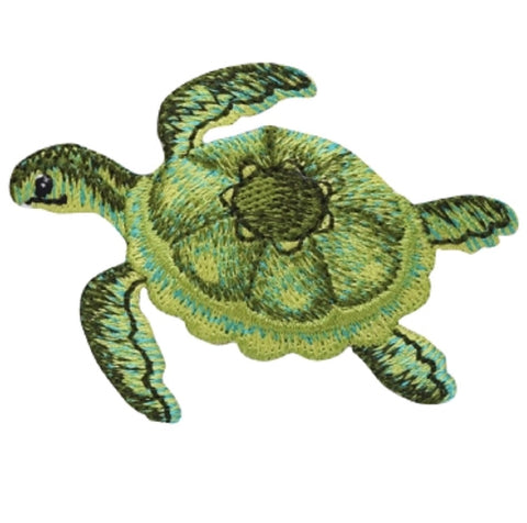 "Sea Turtle Applique Patch - Ocean, Snorkeling Badge 2.5"" (Iron on)"