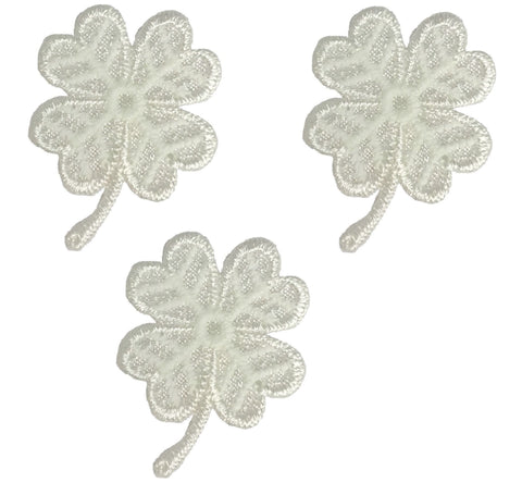 "Four Leaf Clover Applique Patch - Shamrock, Good Luck 1-1/8"" (3-Pack, Iron on)"