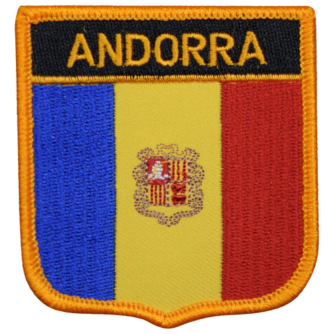 "Andorra Patch - Iberian Peninsula, Pyrenees, Urgell 2.75"" (Iron on)"