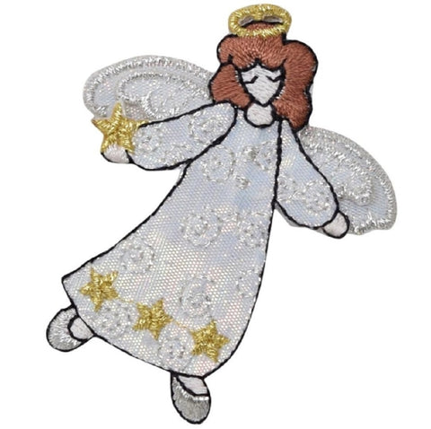 "Angel Applique Patch - Halo, Open Arms 2.5"" (Iron on)"