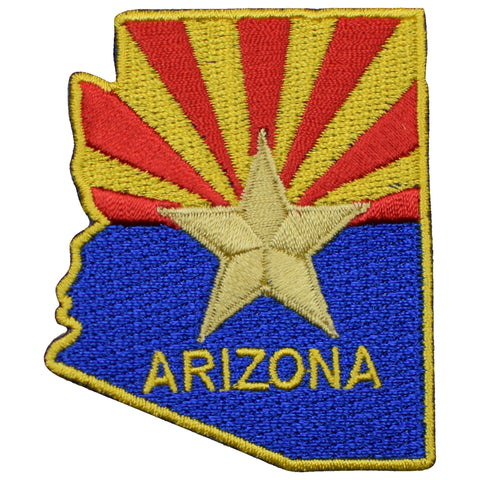 "Arizona Patch - AZ Badge, Copper Star 2-7/16"" (Iron on)"
