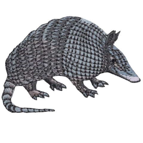 "Armadillo Applique Patch - Zookeeper, Animal Badge 2.5"" (Iron on)"