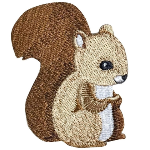 "Baby Squirrel Applique Patch - Animal Badge 2-5/8"" (Iron on)"