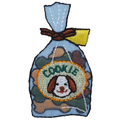 "Dog Treats Applique Patch - Cookies, Biscuits, Doggy Bag 2"" (Iron on)"