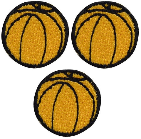Mini Basketball Applique Patch (3-Pack, Small, Iron on)